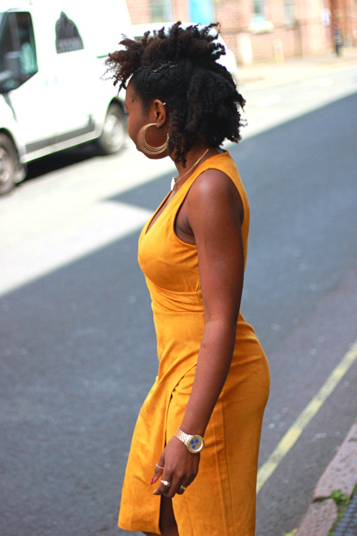 suede tan dress asos