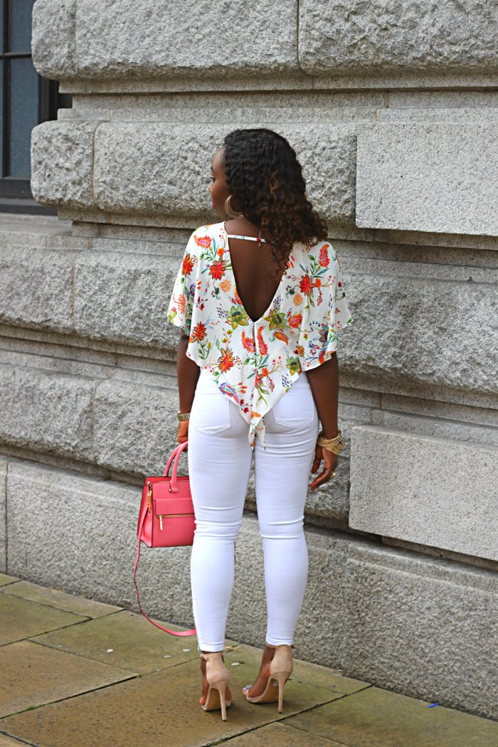 zara floral butterfly top