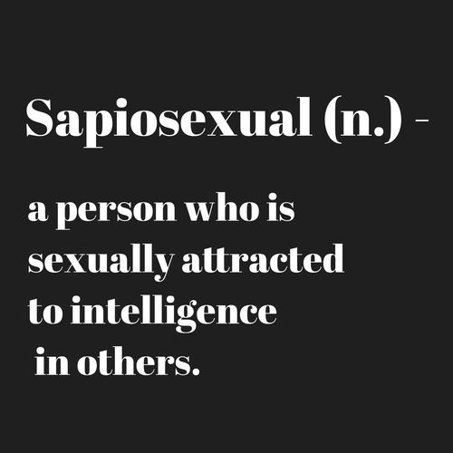 What is sapiosexual yahoo
