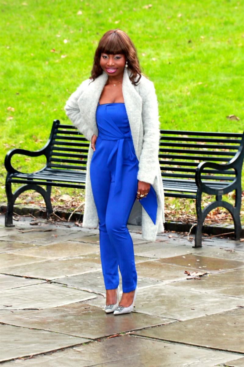 electric blue jumpsuit dune breanna heels a