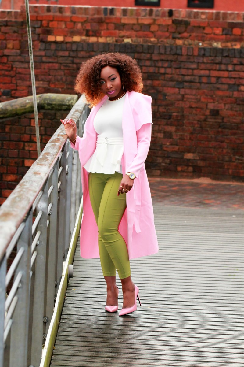 green ankle grazer trousers asos saint laurent heels a