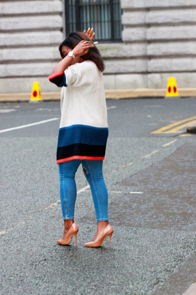 choies colour block cardigan a