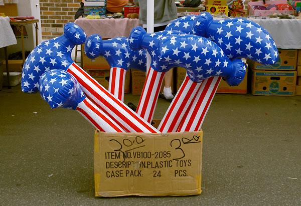 Kay Westheus. 'Patriotic hammers ($3.00)' 2005