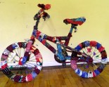 Fabric bombed bike