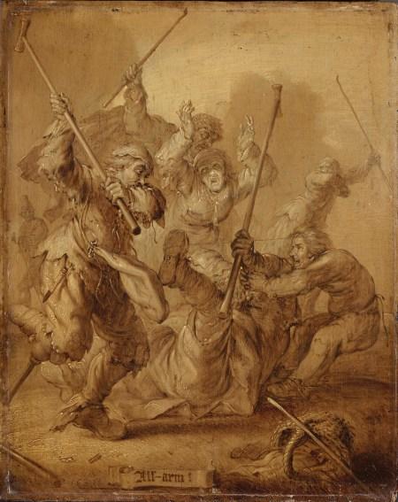 Adriaen van de Venne, All-Arm/ All Poor, 1634 (oil grisaille, 37.5 x 30 cm) Amsterdam Rijksmuseum