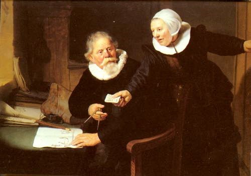 Rembrandt, The Shipbuilder and his Wife, Jan Rijksen and Griet Jans. 1633