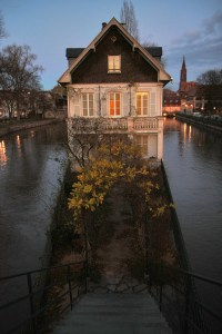 Strasbourg, December 2011 - house stairs in the Ill river