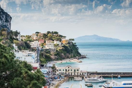 View on Capri from Sorrento