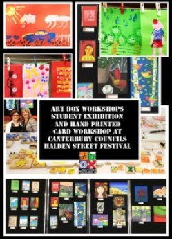 a collage of childrens art works
