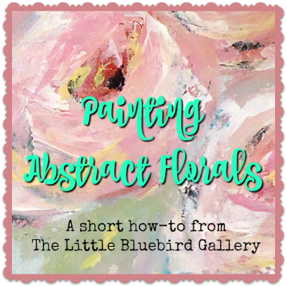 How to paint abstract florals with a palette knife.