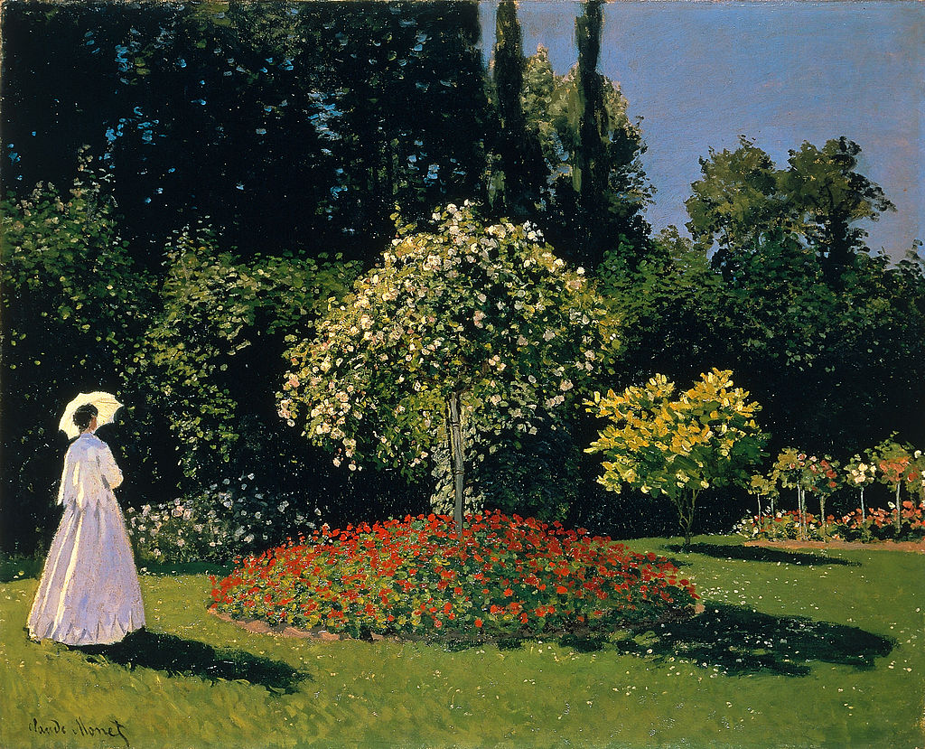 Famous Artists Friday: Claude Monet, Woman in the Garden | ArtbyAmandaHilburn.com #art #famousartist