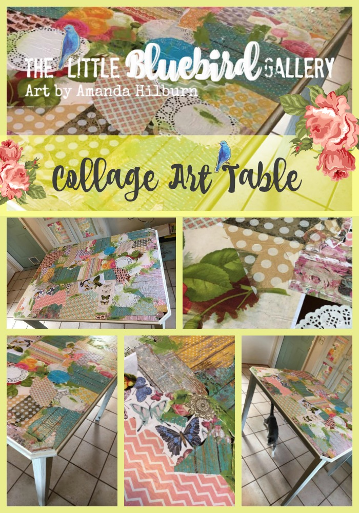 Collage Art Table