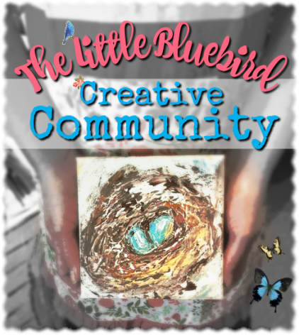 Join The Little Bluebird Creative Community! Learn to paint with a palette knife. Create mixed media art, and find your tribe of creative artists!