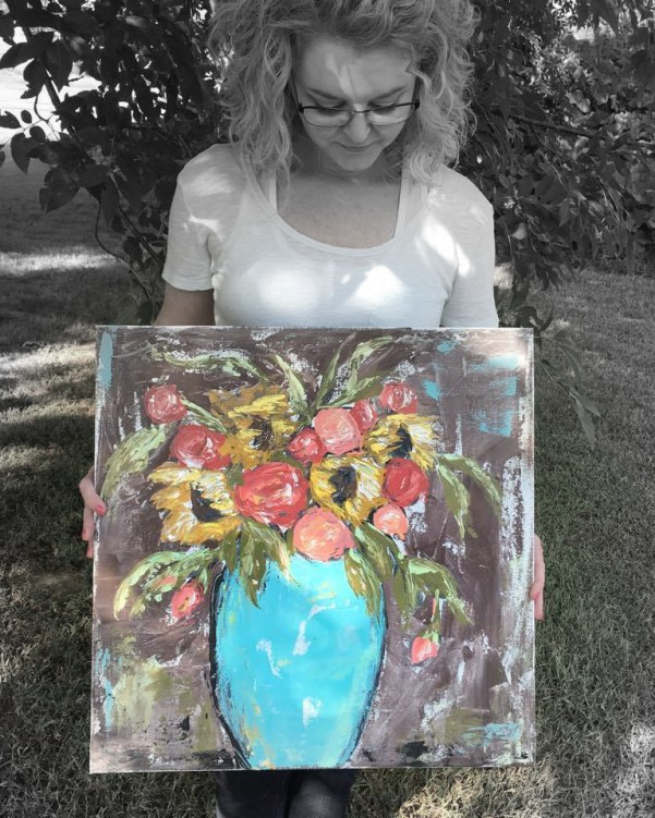 Learn to paint with a palette knife! Join my Creative Community today!