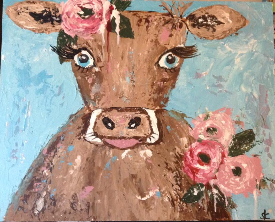 Betsy the Shabby Chic Cow