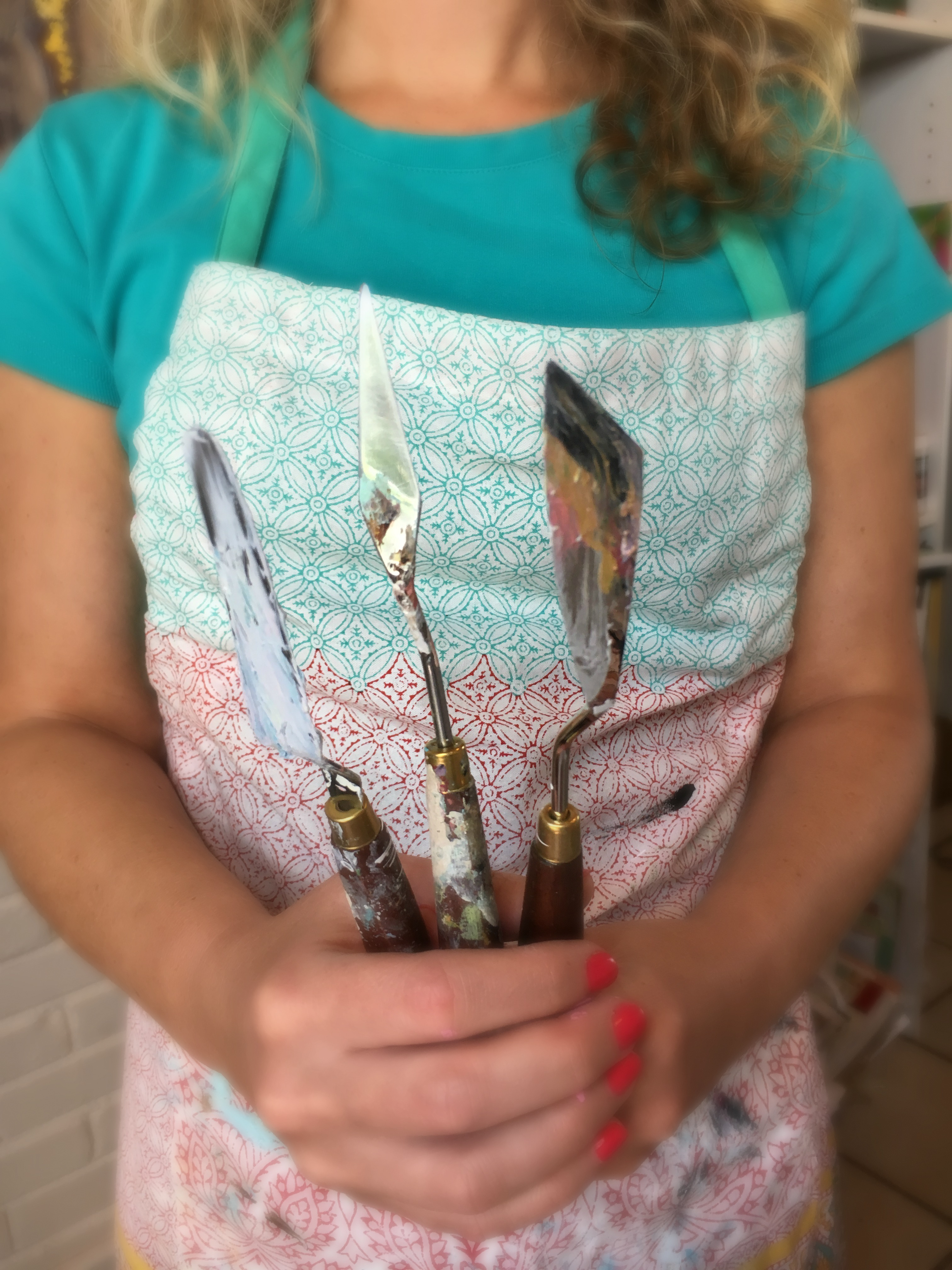 Palette Knife Painting Amanda Hilburn