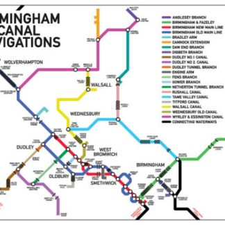 Birmingham canal navigations map