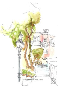Positano - charming street view