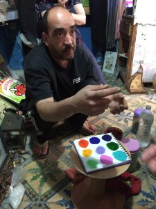 Watercolor Pigments in Essaouira