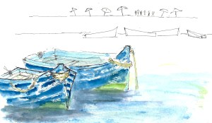 The blue boats of Morocco