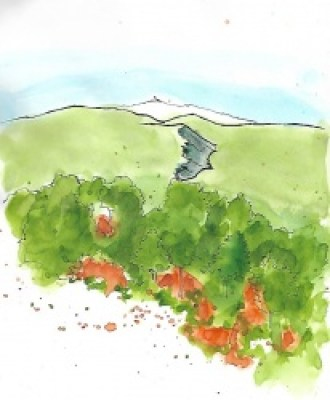 Mt. Ventoux - viewed from Roussillon