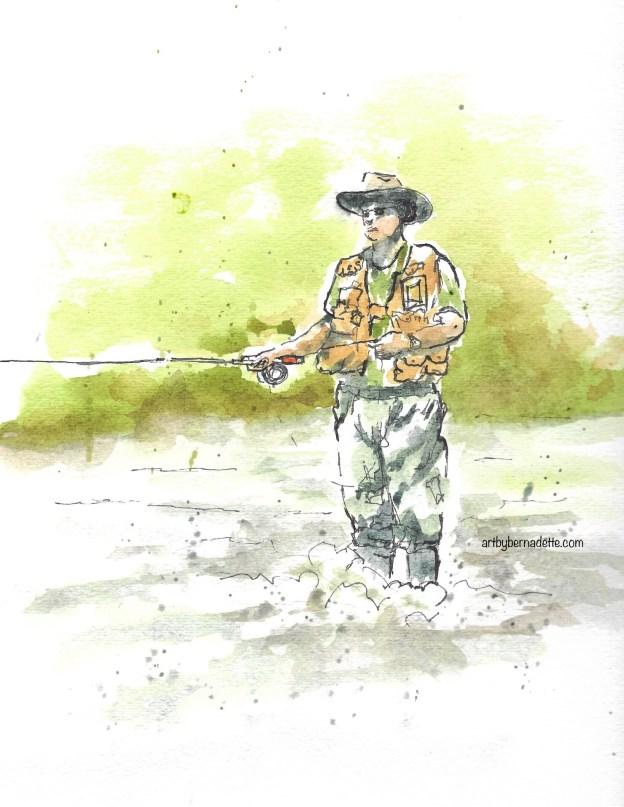 Jamey fishing