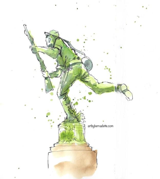 Skirmisher statue