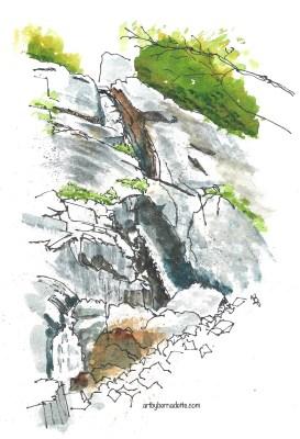 Roaring Brook Falls - at the base