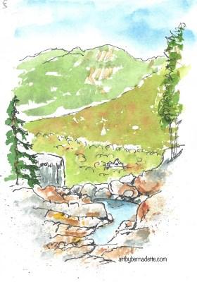 Top of Roaring Brook Falls