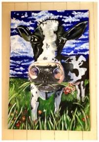 Daisy Acrylic on Canvas 20x24 SOLD
