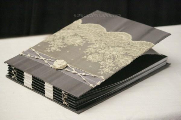New Slate Gray Photo Album with Black Paper, Wedding Album ...