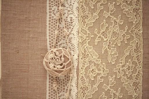 Chocolate Photo Album with Mayflower Alencon Lace