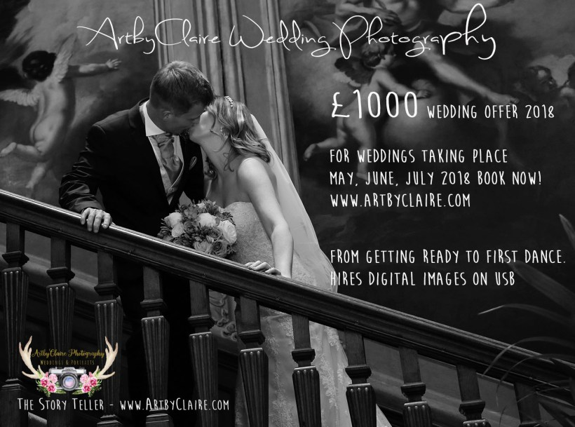 £1000 Weddings for May June July 2018 only - lastminute wedding booking. Photo by ArtbyClaire Photoraphy. Stunning Wedding Photographer, Specialising Natural & Beautiful Wedding Photos, Documentary, Reportage Style - The Story Teller, Professional Photographer based in Hemel Hempstead. Member of SWPP (Society of Wedding & Portrait Photographers) Competitive Wedding Packages & Prices. Covering Hertfordshire, Bedfordshire, Buckinghamshire and surrounding areas, St Albans, Harpenden, Tring, Whipsnade, Watford.