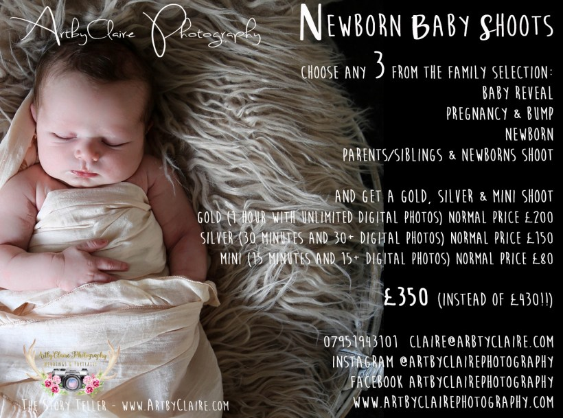Newborn Family Shoot Offer by ArtbyClaire Newborn Photography
