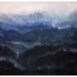 Acrylic Canvas Linen 96x133 cm - Blue Hills