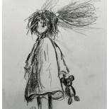 Sketch: Paper. 28x20 cm - Någons barndom pågår här