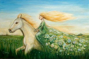 Woman on a horse :: Price $1600