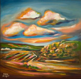 Hills and clouds in Alona :: Price $250