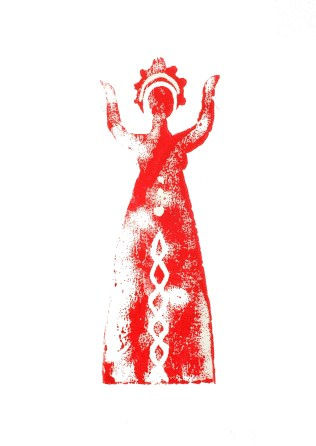 Red woman up 25$ A4 Print