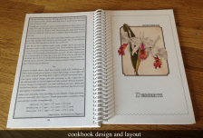 Cookbook design and layout