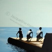 Back Off - painting by British artist Jacqueline Hammond