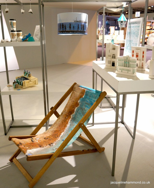 SmartDeco's 'Life's a Beach' Deckchair and Seaside Lampshade chosen for exhibition in the entrance to Hall 7 (Contemporary Home and Gifts) at Spring Fair International 2014
