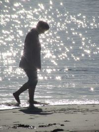 me waking by the sparkly sea