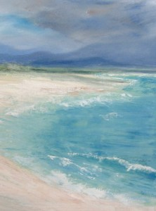 atmospheric seascape and landscape