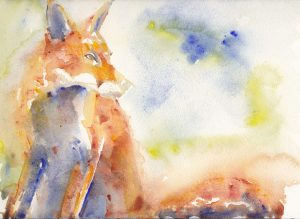 Giclee print of an original Red Fox watercolour