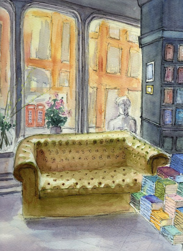 Hatchards bookshop on piccadilly,London a watercolour original