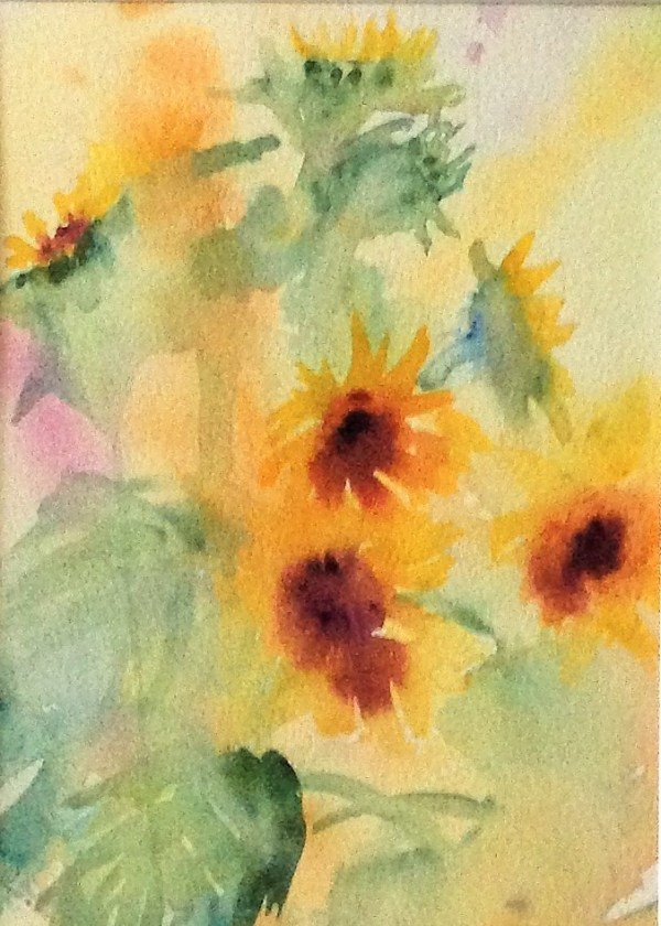 Postcard and Print of Sunflower painting