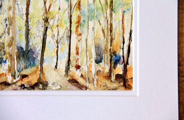detail of Hope a watercolour in the ancestral woods collection
