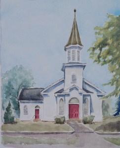 Guyandotte Methodist Church painting