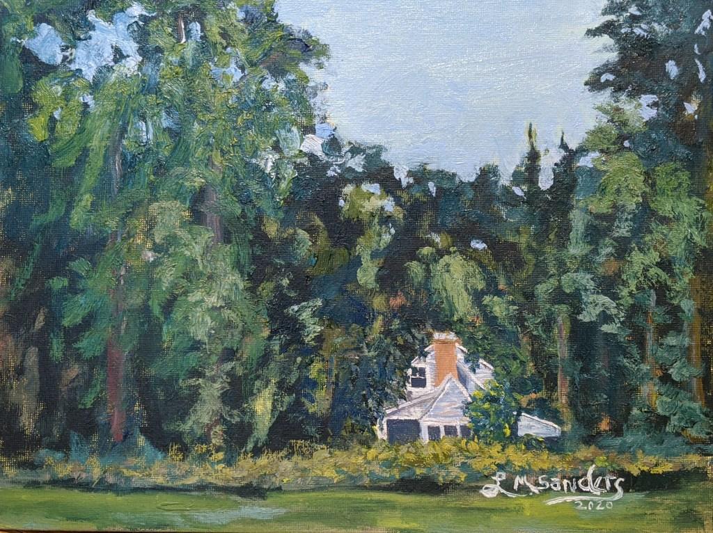 Hidden House Landscape painting with Hollis Dunlap